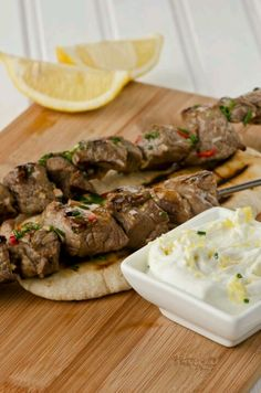 Greek lamb kabobs....Perfect for low carb meal entree