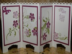Screen Door Divider by - Cards and Paper Crafts at Splitcoaststampers Fancy Fold Cards, Folded Cards, Birthday Wishes, Birthday Cards, Door Dividers, Screen Cards, Funky Painted Furniture, Happy Wishes, Craft Punches