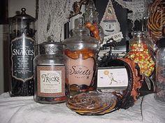 Halloween Apothecary Jars « Lori's favorite things …