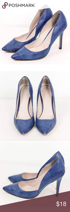 Charles David Royal Blue Snakeskin Pointy Toe Heel Charles by Charles David Royal Blue Snakeskin Pattern Pointy Toe Heels Size 7.5. Some wear on the back and toe of the shoes Charles David Shoes Heels