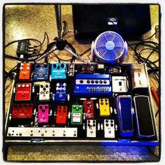 My pedalboard.