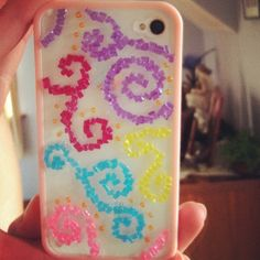 DIY iPhone case with beads, made by Abigail Owens