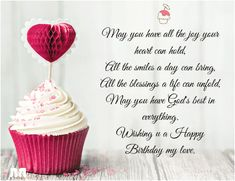 Happy Birthday Wishes For Her, Birthday Wishes For Lover, Happy Birthday Love Quotes, Romantic Birthday Wishes, Birthday Wishes For Girlfriend, Birthday Wish For Husband, Birthday Wishes For Sister, Happy Birthday Messages, Birthday Cards