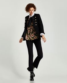 Image 1 of JACKET WITH PEARL BUTTONS from Zara