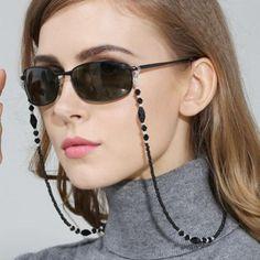 Fashion Women Beaded Eyeglass Chains Anti-slip Eyewear Cord Holder Neck Strap Nd for sale online Bohemian Bracelets, Handmade Bracelets, Body Necklace, Black Women Fashion, Womens Fashion, Fashion Fashion, Eyeglasses For Women, Beaded Rings, Acrylic Beads
