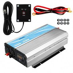 GIANDEL 1600W Power Inverter 12V DC to 110V 120V AC with 20A Solar Charge Controller and Remote Control and Dual AC Outlets & 2.4A USB Port for RV Truck Solar System #solarpanels,solarenergy,solarpower,solargenerator,solarpanelkits,solarwaterheater,solarshingles,solarcell,solarpowersystem,solarpanelinstallation,solarsolutions,solarenergysystem,solarenergygeneration