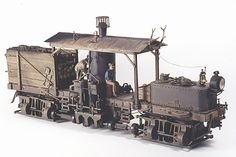 In the early days of logging lokes an outfit might not have enough revenue to merit buying an entire locomotive. Often times the owner would purchase parts- cylinders, driveline and trucks then add their own body and boiler to build a backwoods steam monster.