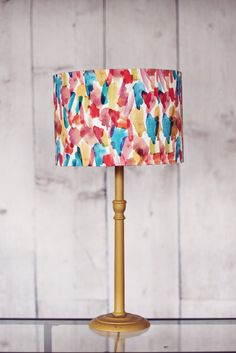 Colourful Lampshade Fabric Drum Lamp Shade by ShadowbrightLamps
