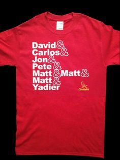 St Louis Stl Cardinals T shirt  David & Carlos and by ImSharkWeak, $19.95