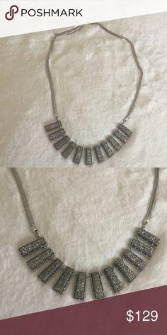 Kendra Scott Angelina necklace platinum drusy Beautiful platinum drusy Kendra Scott Angelina necklace. Kendra Scott Jewelry Necklaces