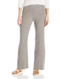 Enza Costa Women's Stretch Mock Twist Rib Wide Leg Pant, Heather Grey, L All Fashion, Fashion Brands, Womens Fashion, Wide Leg Pants, Gorgeous Women, Heather Grey, Pants For Women, Topshop, Pajama Pants