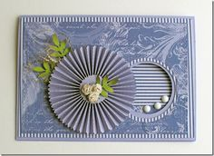 I pin this card because I like the card but mostly because I like how she made the rosette...check it out!    Jaggs