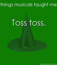 Toss toss.