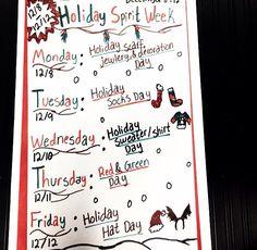 Christmas Spirit Week Ideas For Work.Pinterest