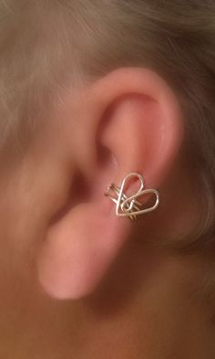 Tender Heart Ear Cuff/ Choice of Colors by TheLazyLeopard on Etsy, $7.00