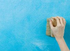 How to Create Paint Effects and add Depth and Texture to Walls | DIY Doctor Diy Wall Painting, Faux Painting, Diy Doctor, Roller Design, Sponge Painting, Paint Effects, Stippling, Blue Walls, Textured Walls