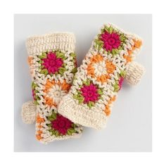Cost Plus World Market Multicolor Crochet Wool Mittens ($20) ❤ liked on Polyvore featuring accessories, gloves, multi, crochet gloves, fleece lined gloves, crochet mittens, wool mitten gloves and wool mittens
