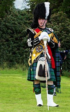 Drum Major ~ Lewis Pipe Band, Tattoo Hebrides.  Stornoway, Scotland