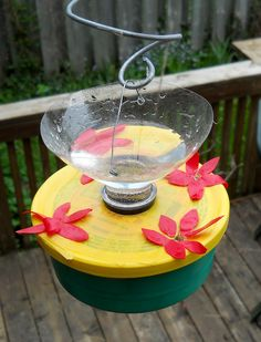 DIY Hummer Feeder and Birdbath