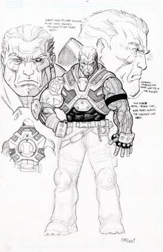Cable character design by Ed McGuinness (for Avengers X-Sanction)