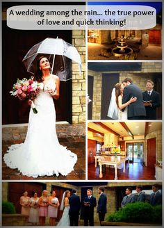Colorado's 100 year flood could not stop this couple! CONGRATULATIONS KATIE AND JUSTIN! Repin if you think Katie looks awesome with her umbrella! #COFlood #ColoradoFlood #ColoradoWeddings www.boulderhomesource.com