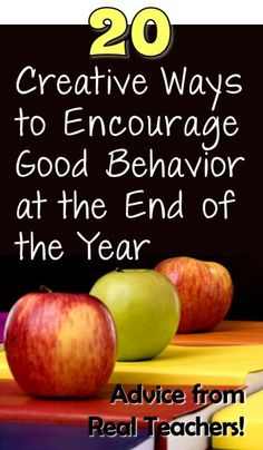 Do you dread the end of the year? Check out 20 Creative Ways to Encourage Good Behavior at the End of the Year for ways to keep your students energized and on task! Classroom Behavior, Future Classroom, School Classroom, Classroom Ideas, Kids Behavior, Art Classroom, Classroom Activities, Classroom Organization, Behaviour Management