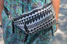 Printed fanny pack