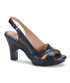 Another great find on #zulily! Black Portia Leather Slingback #zulilyfinds