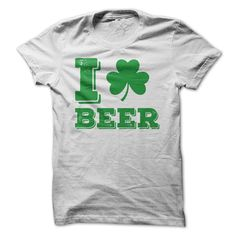 I Love Beer 1 T-Shirts, Hoodies. GET IT ==► https://www.sunfrog.com/St-Patricks/I-Love-Beer-1-White-26725631-Guys.html?id=41382