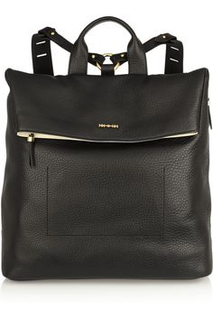 McQ Alexander McQueen Knapsack textured-leather backpack NET-A-PORTER.COM