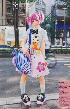 29 New Ideas for style vestimentaire japonais Fashion In, Japan Fashion, Lolita Fashion, Colorful Fashion, Cute Fashion, Style Fashion, Fashion Styles, Harajuku Mode, Harajuku Girls