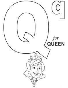 Q Is For Queen Alphabet Coloring Pages