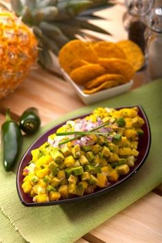Pineapple and Cucumber Guacamole | Delish& perfect after working out on Cinco de Mayo!  Antioxidants = Muscle Repair
