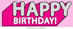 LOL doll surprise Happy birthday vector banner text with hot pink shadow. Illustration for doll party. Picture for birthday invite card. Black and white dots - letters design. Doodle Frames, 3d Letters, Vintage Frames, Cupcake Toppers, My Little Pony Birthday Party, Happy Birthday, Cute Pink Background, Doll Style, Lol Doll Cake