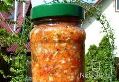 Házi sós zöldség télire Ketchup, Salsa, Canning, Food, Essen, Salsa Music, Meals, Home Canning, Yemek