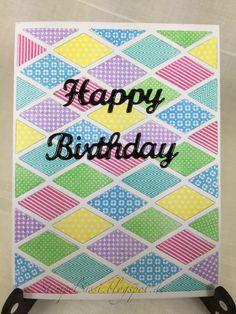 Happy Birthday card, herzlichen Glückwunsch Karte, PTI