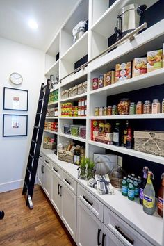 Some of us include a pantry into our kitchen layout. A pantry helps to keep required various items, from canned foods to aprons. A pantry shouldn't always require big area. Read Stylish Kitchen Pantry Ideas 2020 (For Cool Kitchen) Kitchen Pantry Design, Kitchen Pantry Cabinets, Kitchen Ideas, Diy Kitchen, Kitchen With Pantry, Built In Kitchen Appliances, Kitchen Decor, Kitchen Counters, Island Kitchen
