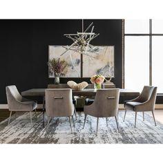 Luxury Dining Tables, Dinning Room Tables, Elegant Dining Room, Luxury Dining Room, Beautiful Dining Rooms, Dining Room Design, Dining Room Furniture, Dinning Room Ideas, Apartment Furniture