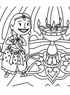 diwali coloring pages 5 coloring kids