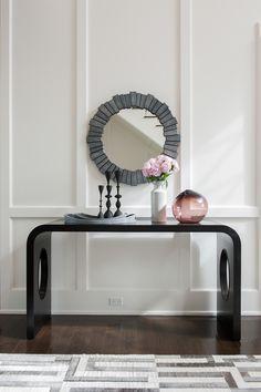 CD CONSOLE TABLE W/ CUSTOM DECORATIVE WALL PANELS | Pictureu2014装饰画 | Pinterest  | Decorative Walls, Console Tables And Consoles