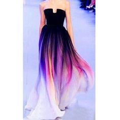 long prom dress, gradient prom dress, chiffon prom dress, cheap prom dress, prom dress 2015, designer prom dress, 1436