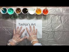 ( 038 ) Acrylic pouring with silicone on the canvas verborgen - YouTube