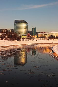Vilnius, Lithuania I lived in an apartment overlooking this river.