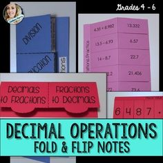 About this resource : Foldable style notes and gra… Math Notebooks, Interactive Notebooks, Math Teacher, Teaching Math, Sixth Grade Math, I Love Math, Secondary Math, Decimal, Teaching Strategies