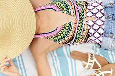 Merrick's Art// Trina Turk One Piece Swimsuit for Summer