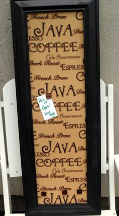 Coffee Lover - New Decorative Space Saver Magnetic Board