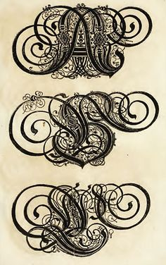 Paul Franck's calligraphy