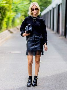 4 Amazing Outfit Ideas to Copy From Berlin Fashion Week Street Style via @WhoWhatWear
