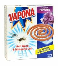 Pest Control Vapona Anti Wasp & Mosquito Coils With Geranium Perfume 10 Coils Pack & Garden Fly Traps, Wasp, Geraniums, Pest Control, Health And Beauty, Fragrance, Packing, Perfume, Garden