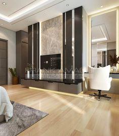 Living Room Tv Unit Designs, Ceiling Design Living Room, Tv Wall Design, Bedroom Bed Design, Modern Bedroom, Wall Table Diy, Lcd Panel Design, Lcd Units, Tv Panel